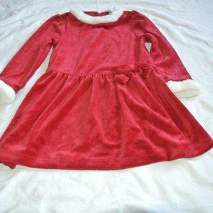 Gymboree Faux Fur Red Dress 4T Holiday new with ta